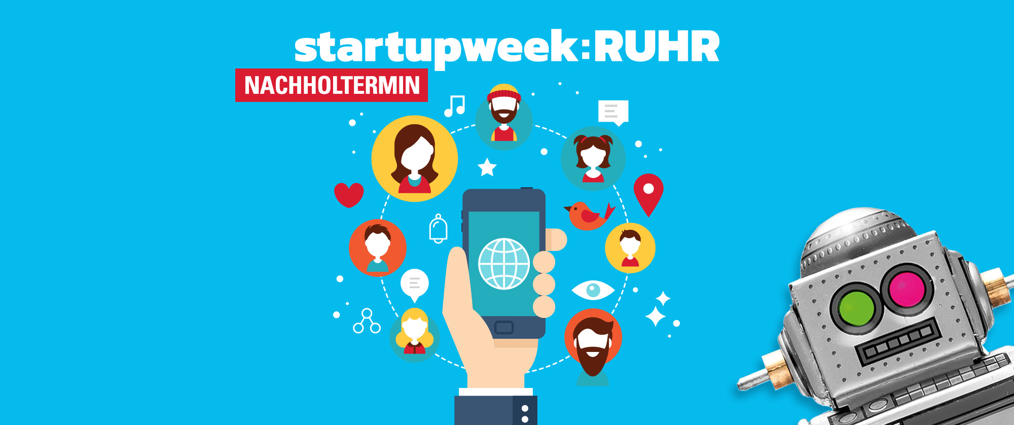 Camp Essen - Startupweek 2018 Social Media Facebook Instagram - Nachholtermin